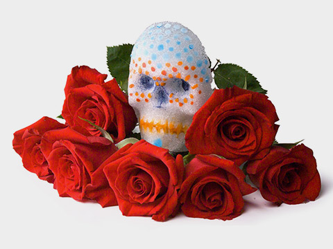 Day of the Dead Glass Skulls